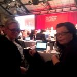 Anne_Catrin Eneroth (till vänster) på kongressen.