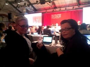 Anne_Catrin Eneroth (till vänster) på kongressen 2014.