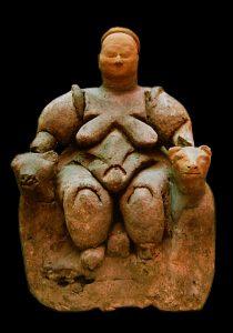 Kvinnofigur i Çatalhöyük